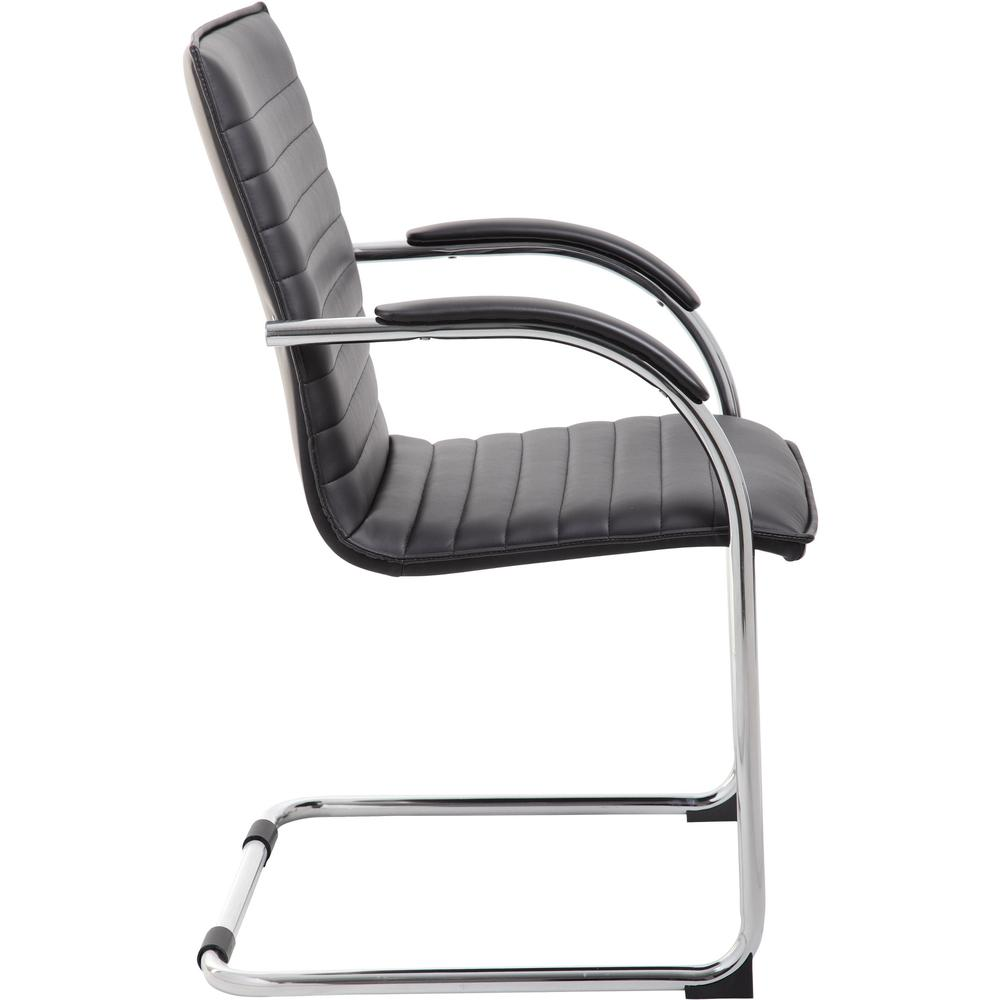 """Boss Chrome Frame, Black Vinyl Side Chair, 2 pack - Black Vinyl Seat - Black Vinyl Back - Chrome Polywood Frame - Cantilever Base - 20"""" Seat Width x 18"""" Seat Depth - 23"""" Width x 24.5"""" Depth x 37.5"""" He. Picture 7"""