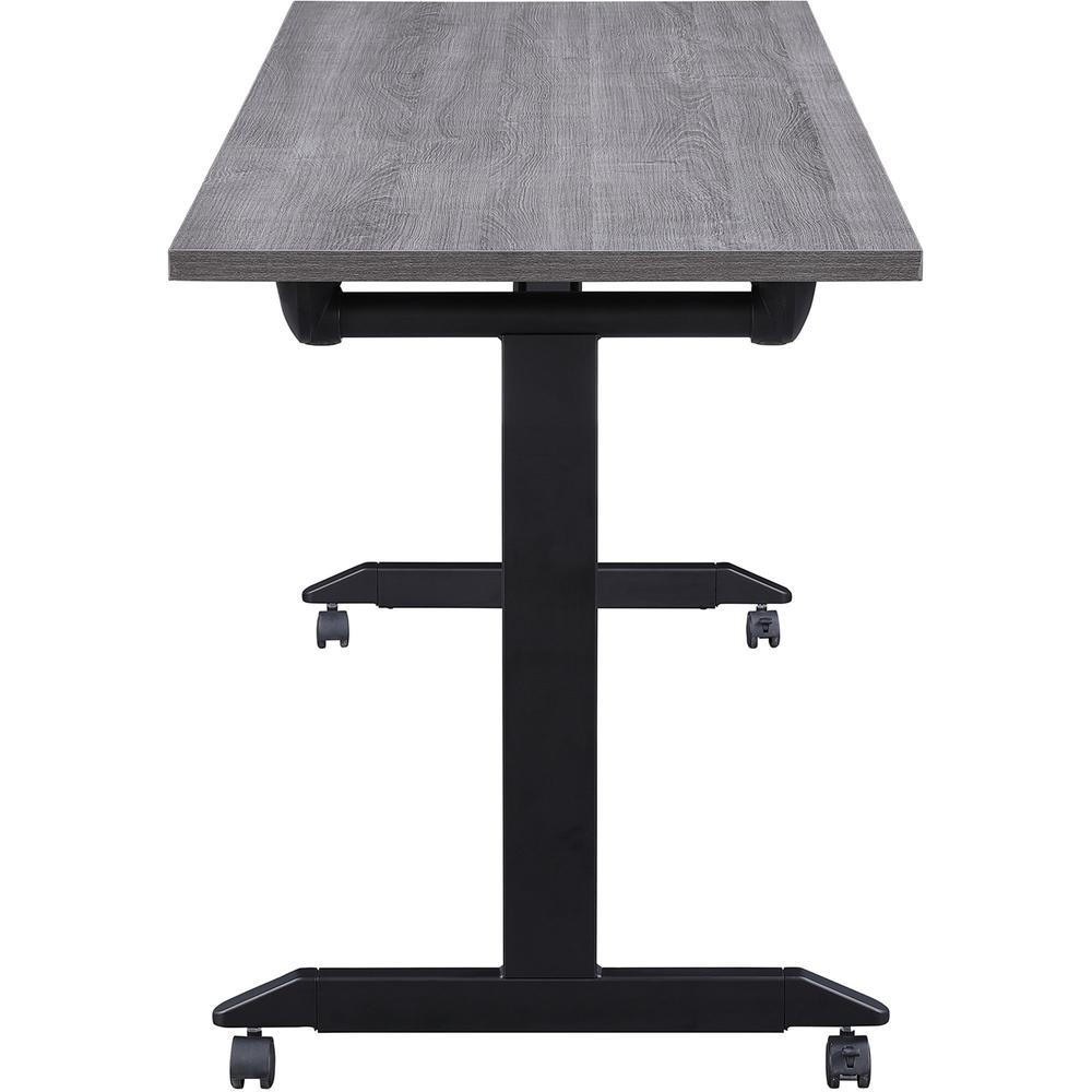 """Lorell Mobile Folding Training Table - Rectangle Top - Powder Coated Base - 23.63"""" Table Top Length x 29.50"""" Table Top Width - 63"""" Height - Assembly Required - Weathered Charcoal. Picture 8"""