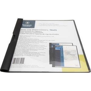 """Business Source Letter Report Cover - 8 1/2"""" x 11"""" - 30 Sheet Capacity - Vinyl - Black - 1 Each. Picture 4"""