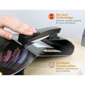 "Bostitch Booklet Stapler - 20 Sheets Capacity - 210 Staple Capacity - Full Strip - 1/4"" Staple Size - Black. Picture 4"