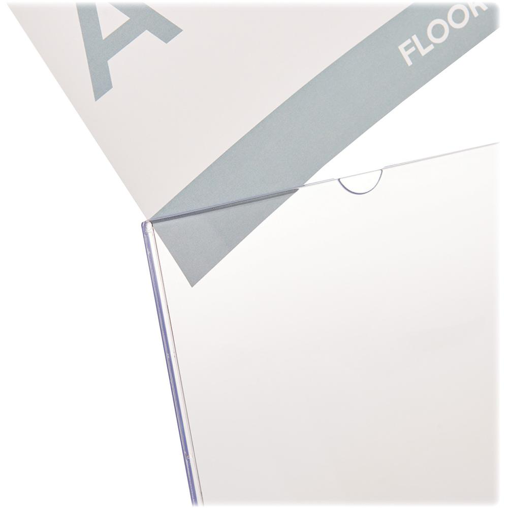 """Deflecto Superior Image Slanted Sign Holders - 1 Each - 7"""" Width x 5"""" Height - Top Loading - Plastic - Clear. Picture 5"""
