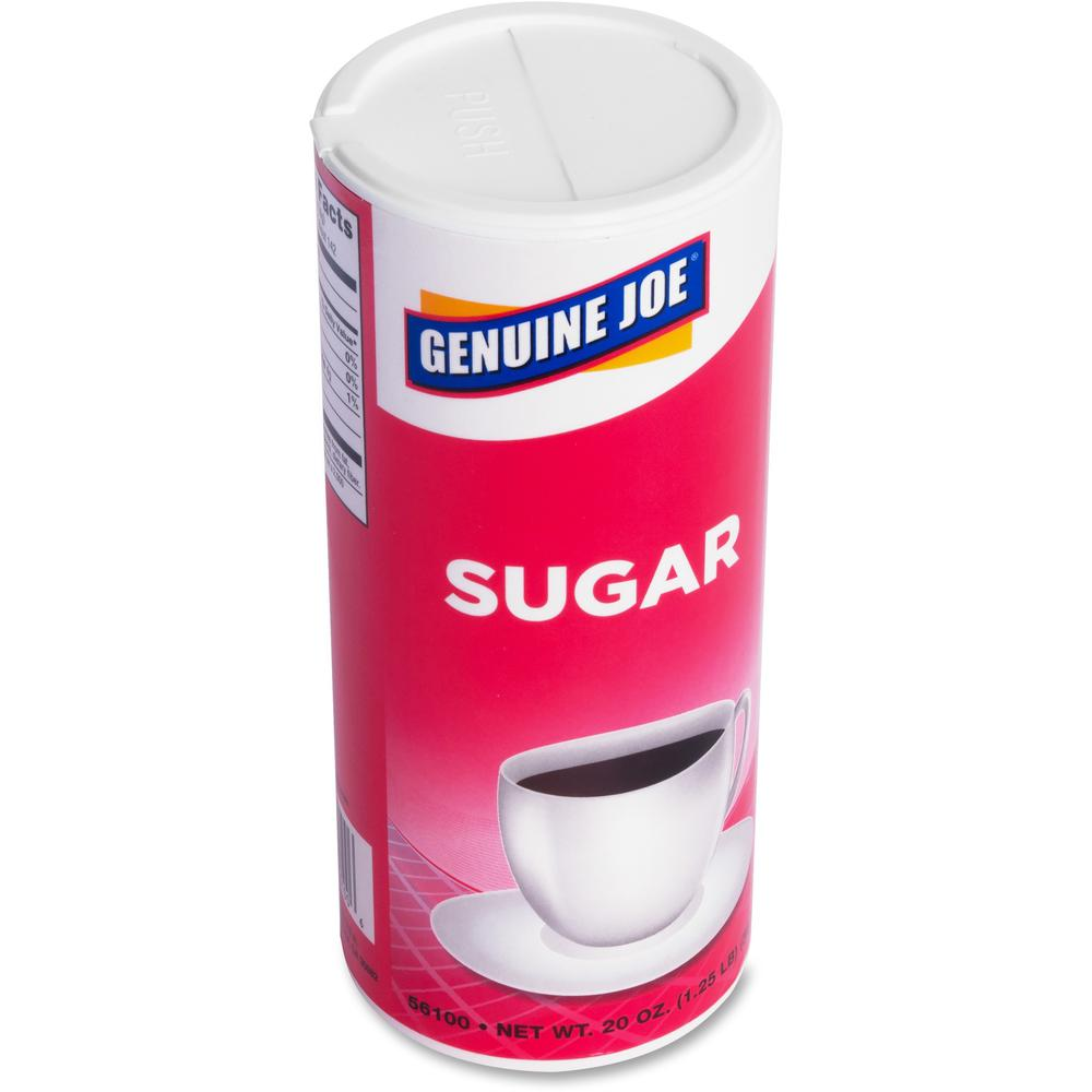 Genuine Joe 20 oz. Sugar Canister - Canister - 1.2 lb (20 oz) - Natural Sweetener - 3/Pack. Picture 3