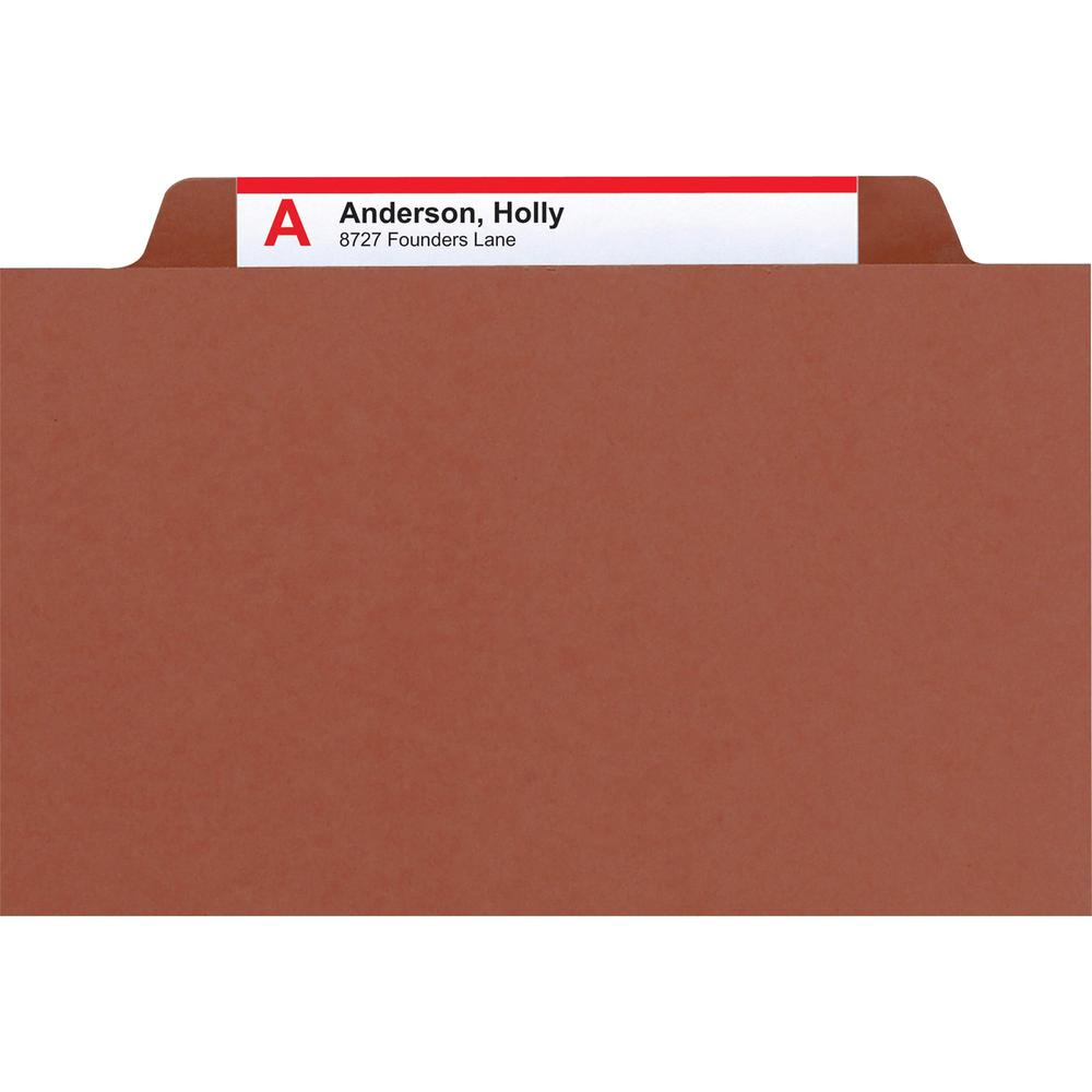 """Smead 100% Recycled Classification Folders - Letter - 8 1/2"""" x 11"""" Sheet Size - 2"""" Expansion - 2 x 2K Fastener(s) - 1"""" Fastener Capacity, 2"""" Fastener Capacity - 2/5 Tab Cut - Top Tab Location - Right . Picture 10"""