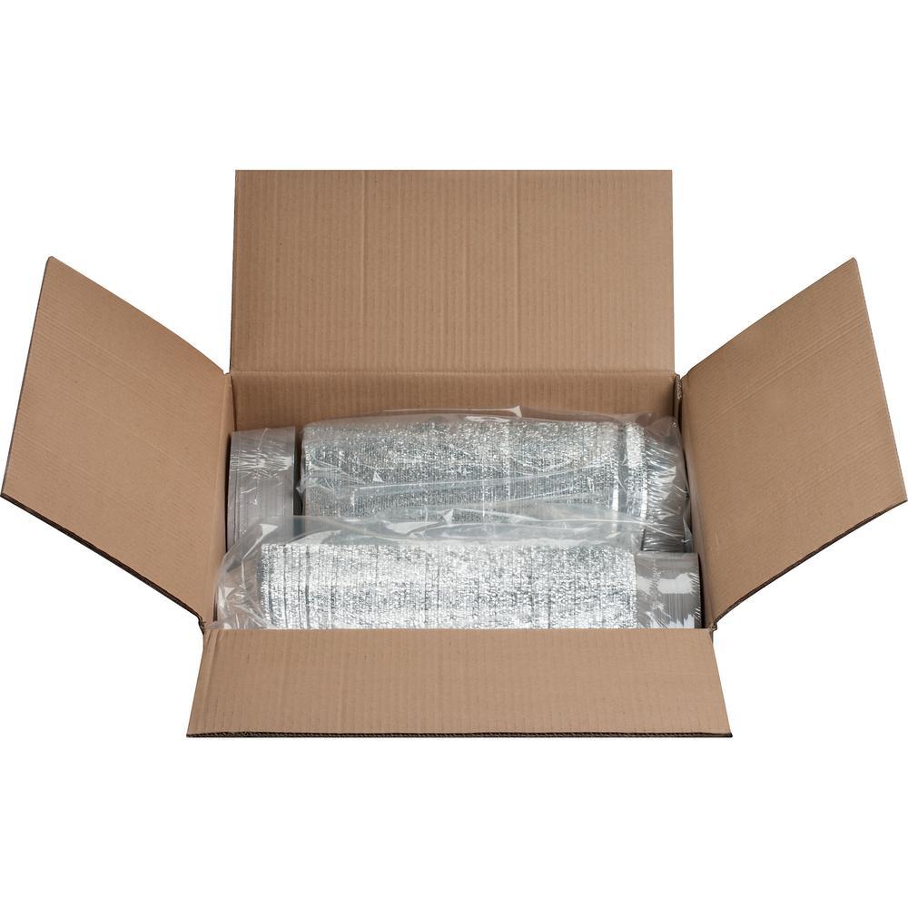 "Genuine Joe Round Aluminum Food Container Set - 7"" Diameter Food Container, Lid - Aluminum - Cooking, Serving - Silver - 250 Piece(s) / Carton"