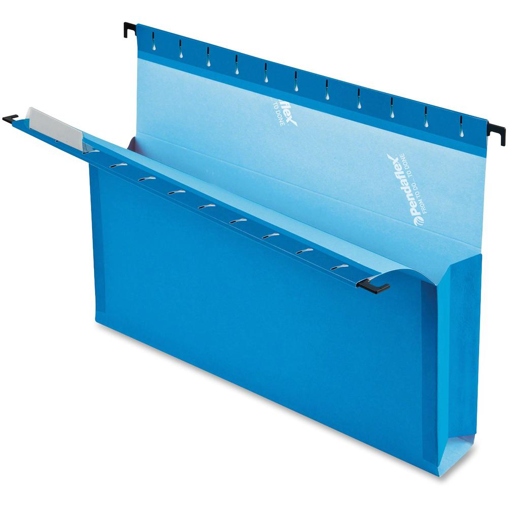 "Pendaflex SureHook Letter Recycled Hanging Folder - 8 1/2"" x 11"" - 3"" Expansion - Blue - 10% - 25 / Box. Picture 5"