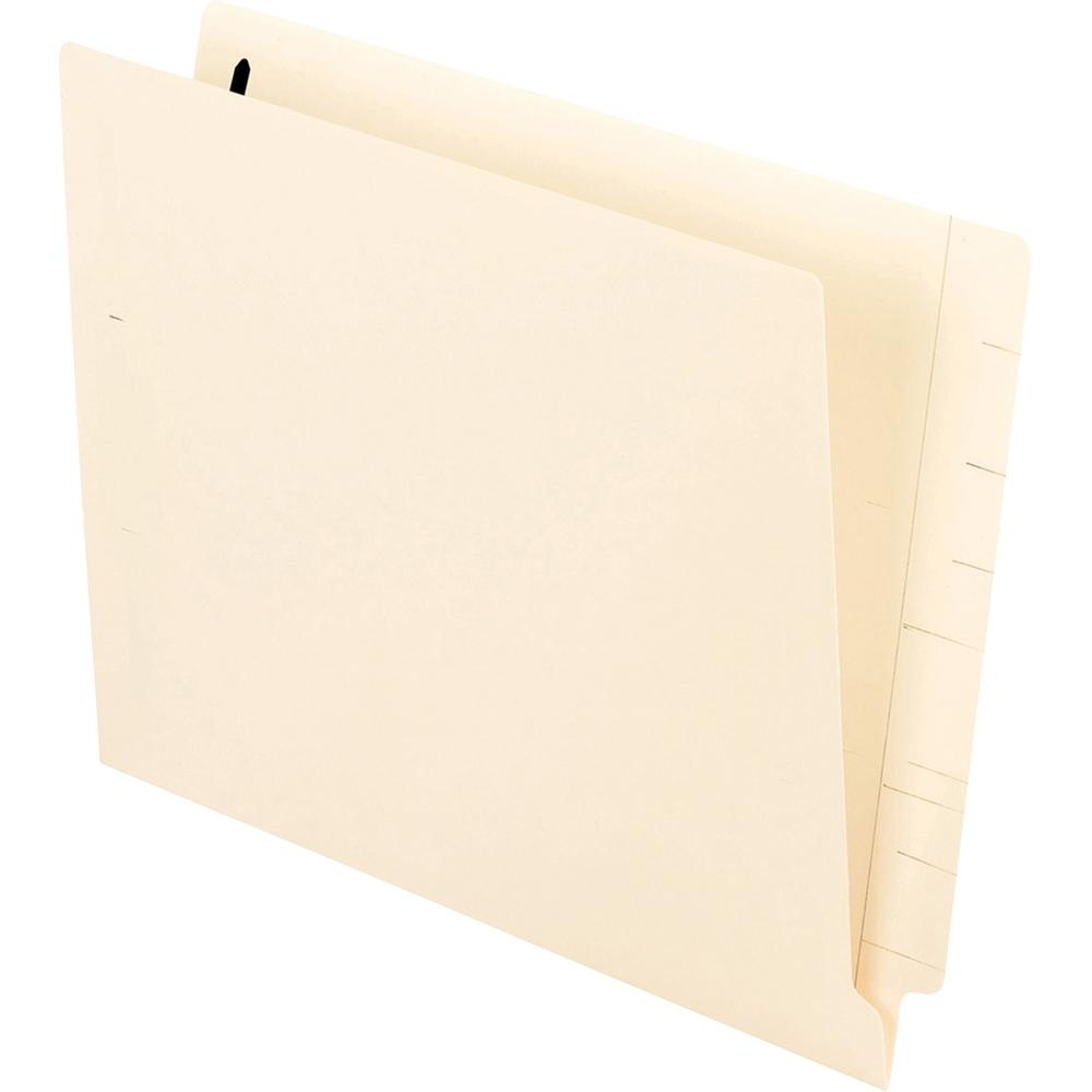 "Pendaflex Manila End Tab Fastener Folders - Letter - 8 1/2"" x 11"" Sheet Size - 3/4"" Expansion - 2 Fastener(s) - 2"" Fastener Capacity for Folder - 11 pt. Folder Thickness - Manila - Recycled - 50 / Box. Picture 4"