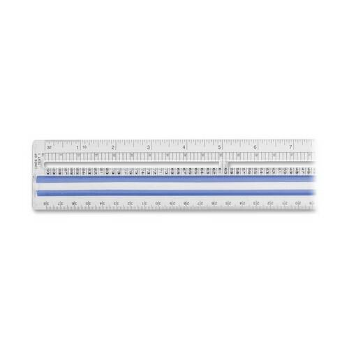 """Westcott Magnifying Computer Printout Rulers - 15"""" Length 1"""" Width - 1/16 Graduations - Imperial, Metric Measuring System - Acrylic - 1 Each - Clear. Picture 2"""
