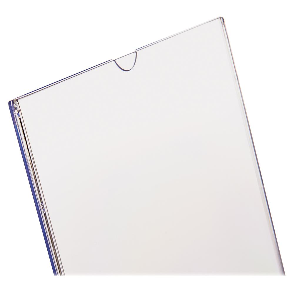 """Deflecto Superior Image Slanted Sign Holders - 1 Each - 7"""" Width x 5"""" Height - Top Loading - Plastic - Clear. Picture 12"""