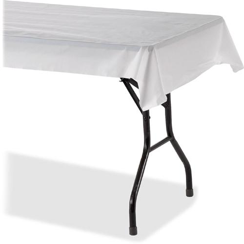 """Genuine Joe Banquet-size Plastic Tablecover - 300 ft Length x 40"""" Width - Plastic - White - 1 Roll. Picture 4"""