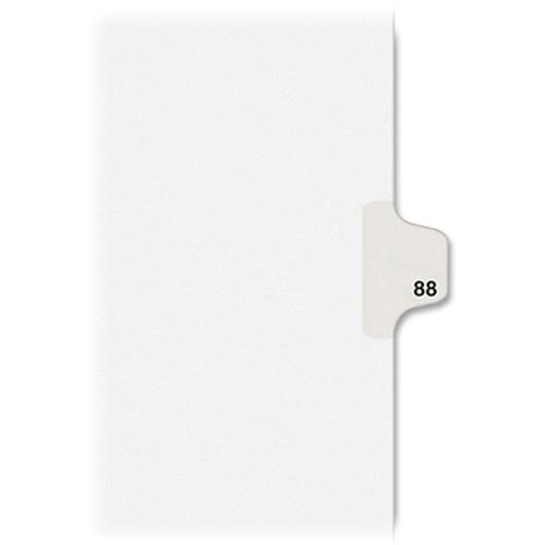 """Kleer-Fax Legal Exhibit Numbered Index Dividers - Printed Tab(s) - Digit - 88 - 8.5"""" Divider Width x 11"""" Divider Length - Letter - White Divider - 25 / Pack. Picture 4"""
