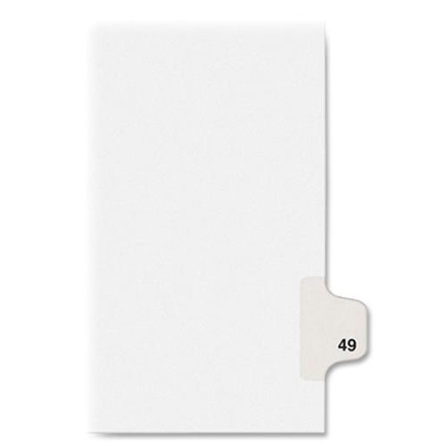 """Kleer-Fax Numeric Laminated Tab Index Dividers - Printed Tab(s) - Digit - 49 - 8.5"""" Divider Width x 11"""" Divider Length - Letter - White Divider - 25 / Pack. Picture 4"""