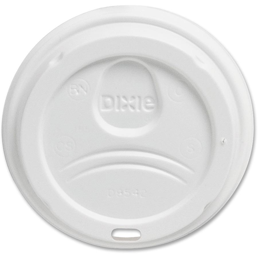 Dixie Large Hot Cup Lids by GP Pro - Dome - Plastic - 50 / Pack - White. Picture 5