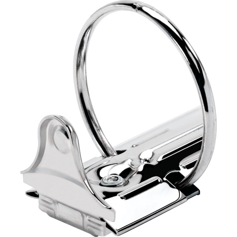 "Business Source Round-ring View Binder - 2"" Binder Capacity - Letter - 8 1/2"" x 11"" Sheet Size - 475 Sheet Capacity - Round Ring Fastener(s) - 2 Internal Pocket(s) - Polypropylene - Black - Wrinkle-fr. Picture 9"