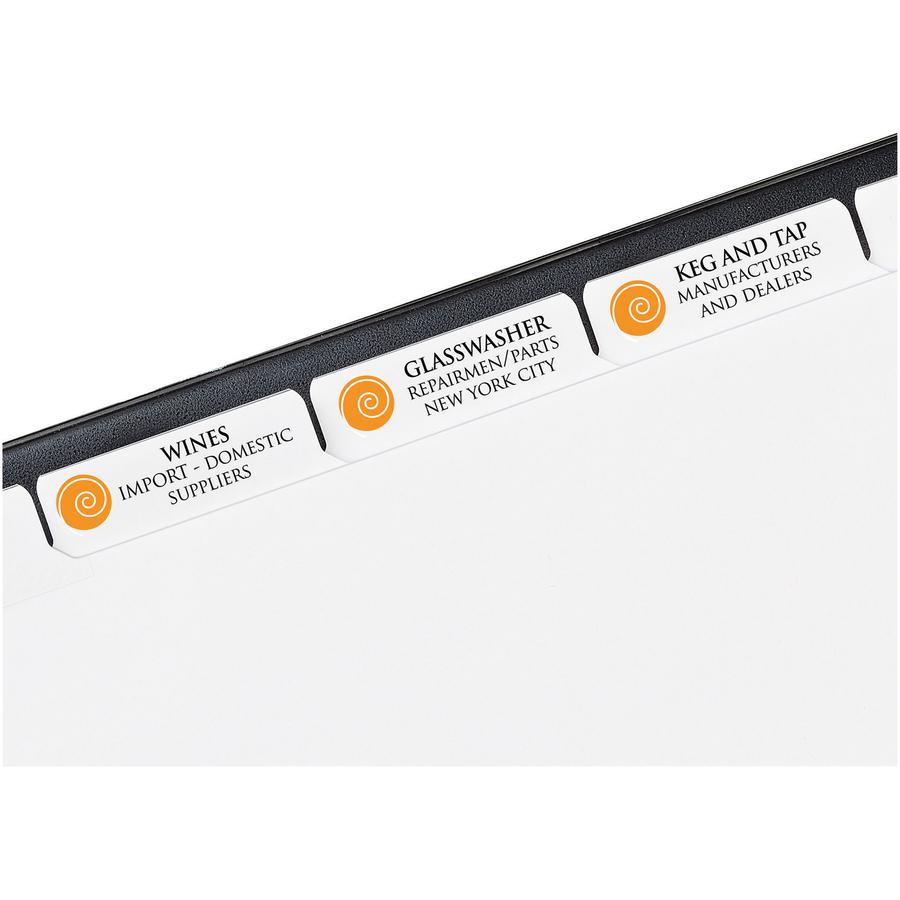 """Avery® Index Maker Index Divider - 5 x Divider(s) - 5 - 5 Tab(s)/Set - 8.5"""" Divider Width x 11"""" Divider Length - 3 Hole Punched - White Paper Divider - White Paper Tab(s) - 5 / Set. Picture 3"""
