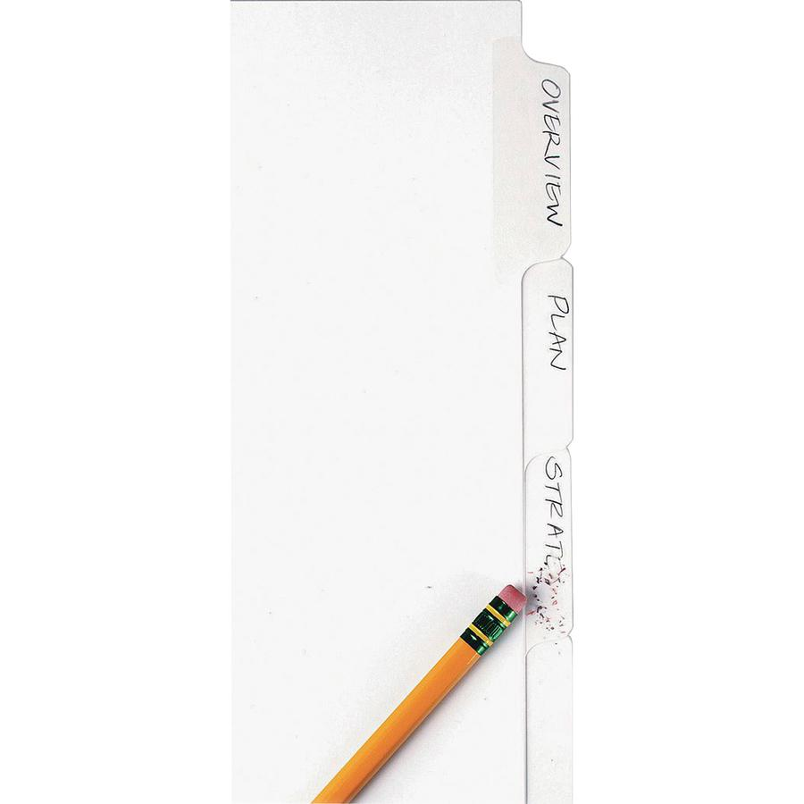 """Avery® Big Tab Eraseable Write-On Dividers - 5 x Divider(s) - 5 Write-on Tab(s) - 5 - 5 Tab(s)/Set - 8.5"""" Divider Width x 11"""" Divider Length - 3 Hole Punched - White Paper Divider - White Paper Ta. Picture 3"""