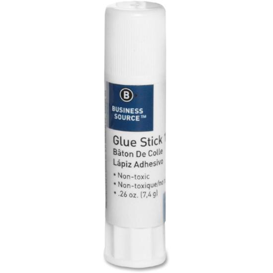 Business Source Value Pack Glue Sticks - 0.26 oz - 18 / Pack - White. Picture 3