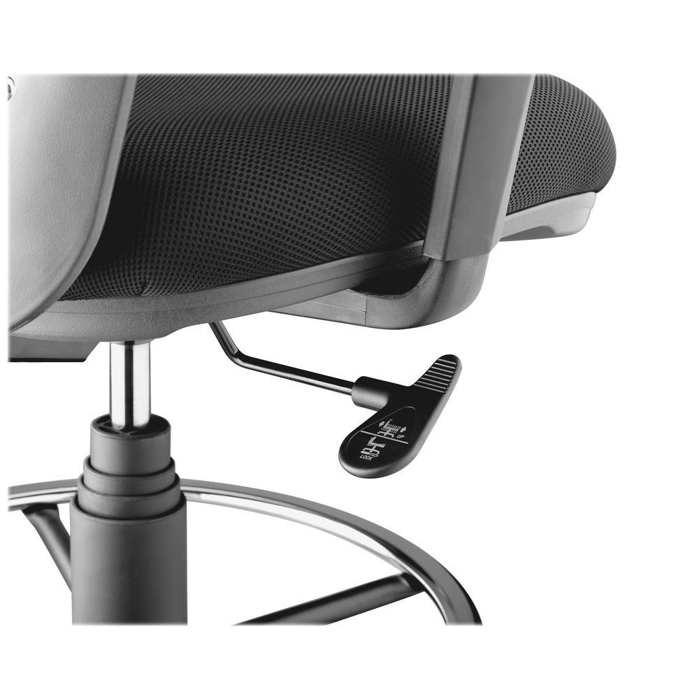 Lorell Mesh Back Drafting Stool Fabric Black Seat 5