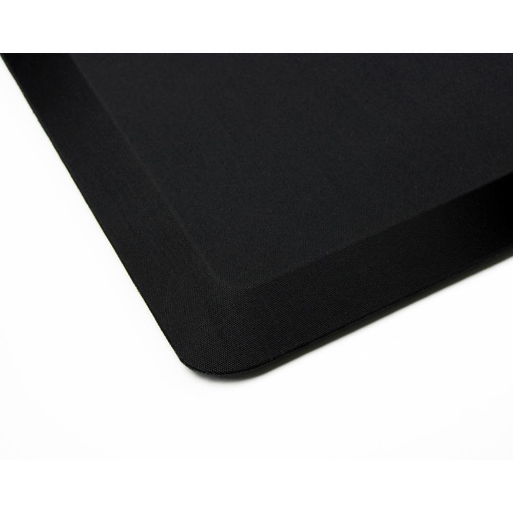 "AFS-TEX Unique System 3000 Anti-Fatigue Mat - Workstation, Stand-up Desk, Reception, Counter - 39"" Length x 20"" Width x 0.80"" Thickness - Rectangle - Polyurethane, Polyester - Midnight Black. Picture 5"