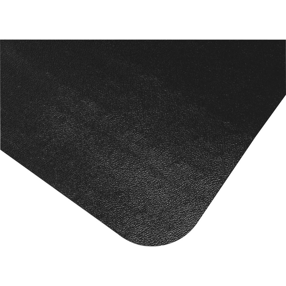 "Cleartex Advantagemat Floor Chair Mat - Hard Floor - 48"" Length x 36"" Width x 0.60"" Thickness - Lip Size 20"" Length x 10"" Width - Rectangle - Classic - Polyvinyl Chloride (PVC) - Black. Picture 7"