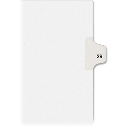 """Avery® Individual Legal Exhibit Dividers - Avery Style - 1 Printed Tab(s) - Digit - 29 - 1 Tab(s)/Set - 8.5"""" Divider Width x 11"""" Divider Length - Letter - White Paper Divider - Paper Tab(s) - 25 /. Picture 4"""