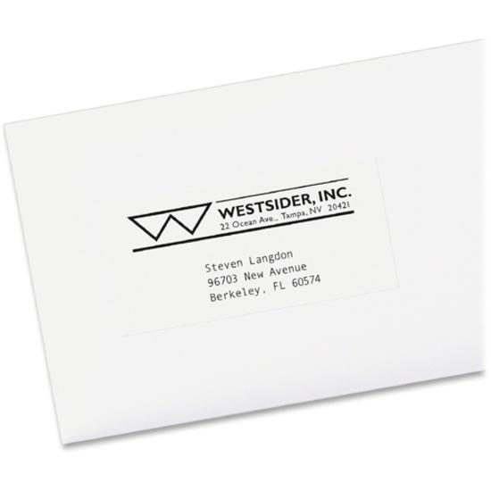 Avery® Copier Address Labels - Permanent Adhesive - Rectangle - White - Paper - 24 / Sheet - 100 Total Sheets - 2400 Total Label(s) - 5. Picture 2