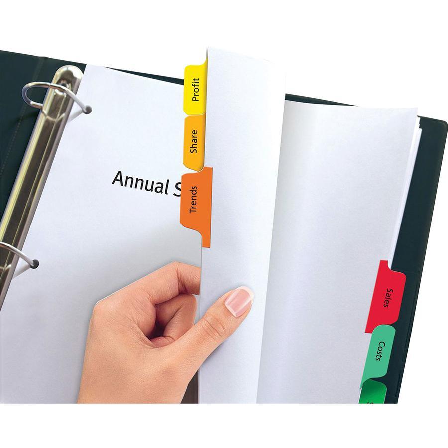 "Avery® Index Maker Index Divider - 40 x Divider(s) - 8 - 8 Tab(s)/Set - 8.5"" Divider Width x 11"" Divider Length - 3 Hole Punched - White Paper Divider - Multicolor Paper Tab(s) - 5 / Set. Picture 3"