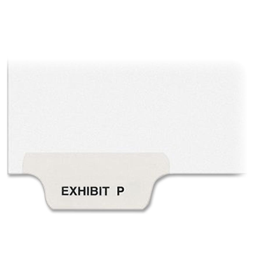 """Avery® Individual Bottom Tab Legal Dividers - 25 x Divider(s) - Bottom Tab(s) - Exhibit P - 1 Tab(s)/Set - Letter - 8 1/2"""" Width x 11"""" Length - White Paper Divider - 1. Picture 3"""
