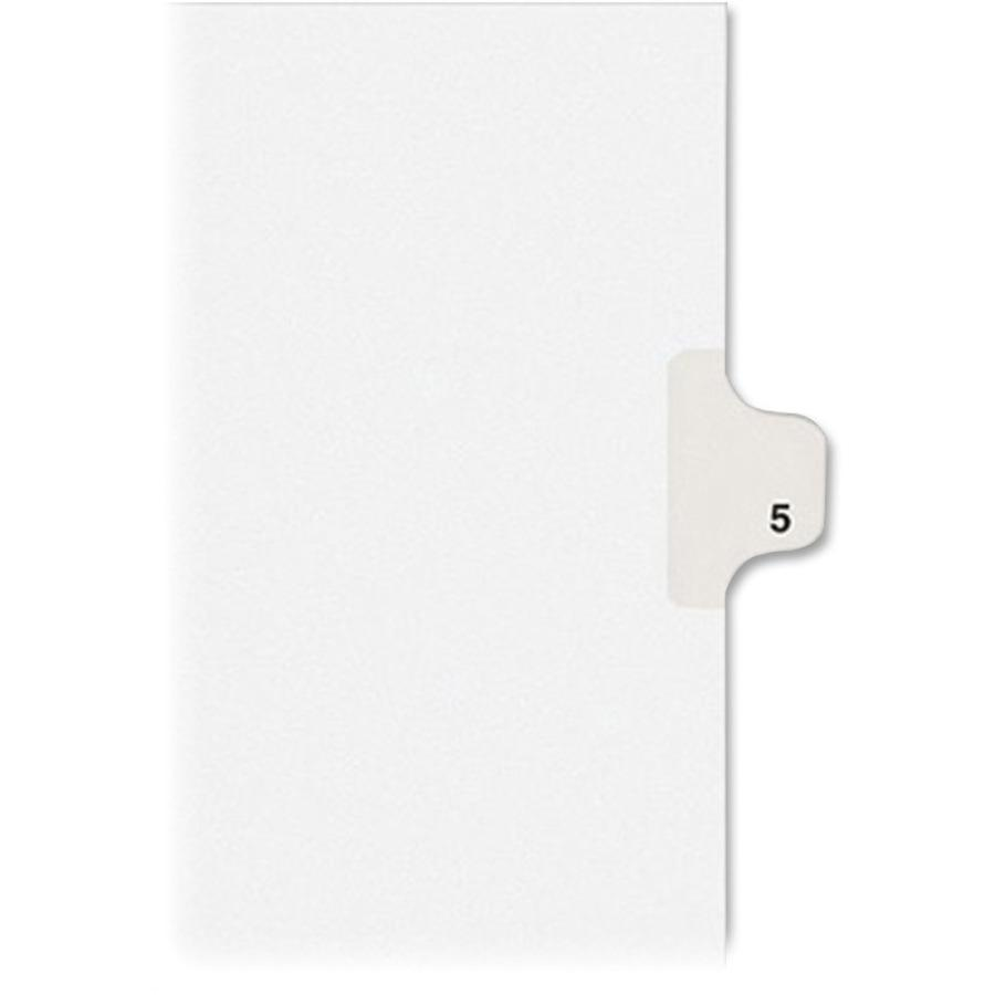 """Avery® Alllstate Style Individual Legal Dividers - 25 x Divider(s) - Side Tab(s) - 5 - 1 Tab(s)/Set - 8.5"""" Divider Width x 11"""" Divider Length - Letter - 8 1/2"""" Width x 11"""" Length - Paper Divider -. Picture 3"""