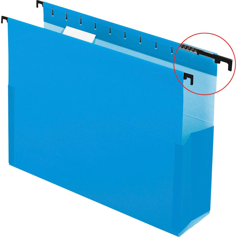 "Pendaflex SureHook Letter Recycled Hanging Folder - 8 1/2"" x 11"" - 3"" Expansion - Blue - 10% - 25 / Box. Picture 4"