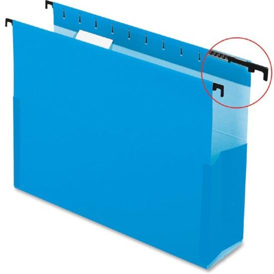 """Pendaflex SureHook Legal Recycled Hanging Folder - 8 1/2"""" x 14"""" - 2"""" Expansion - Blue - 10% - 25 / Box. Picture 2"""