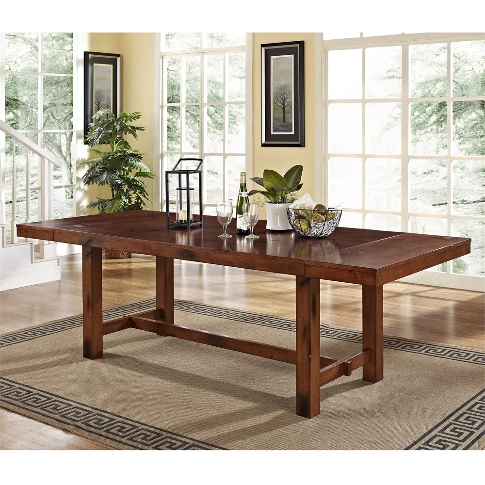 Dark oak wood dining table for Dark wood dining table