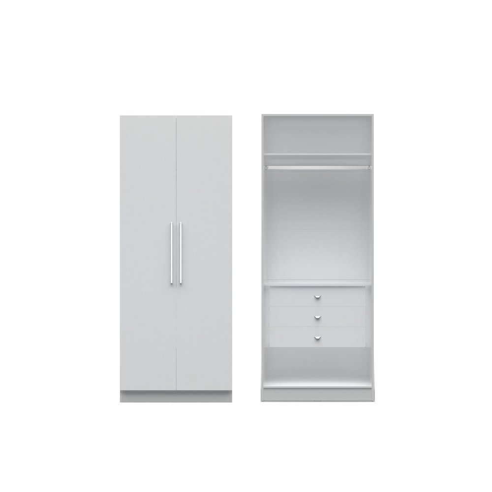 Chelsea 2 0 35 43 Inch Wide Basic Wardrobe Closet 2 With