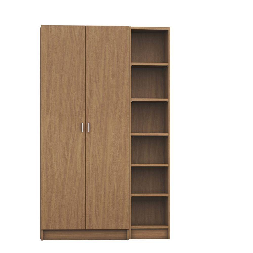 Greenwich 2 piece bookcase 12 wide and narrow shelves for 12 wide door