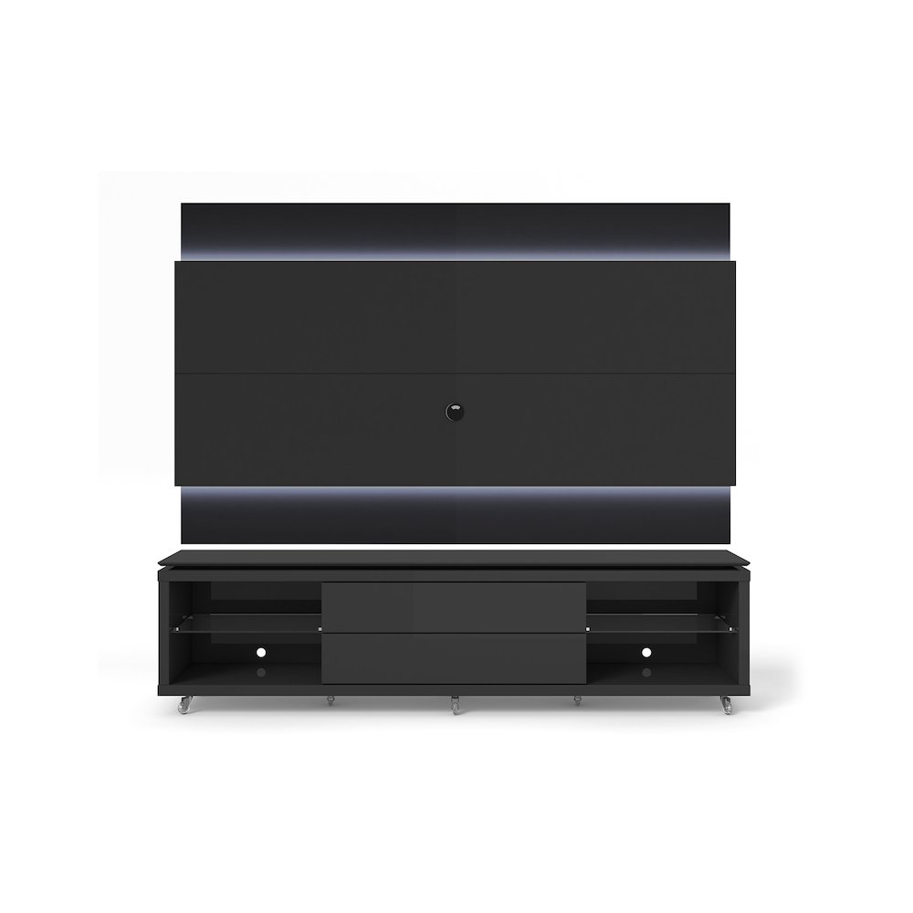 lincoln tv stand with silicone casters and lincoln floating wall tv panel with led lights 1 9 in. Black Bedroom Furniture Sets. Home Design Ideas