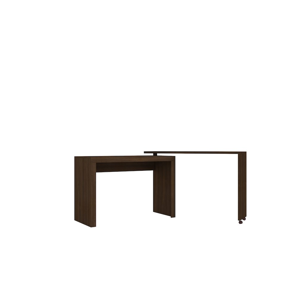 Calabria Nested Desk With Swivel Feature In Tobacco