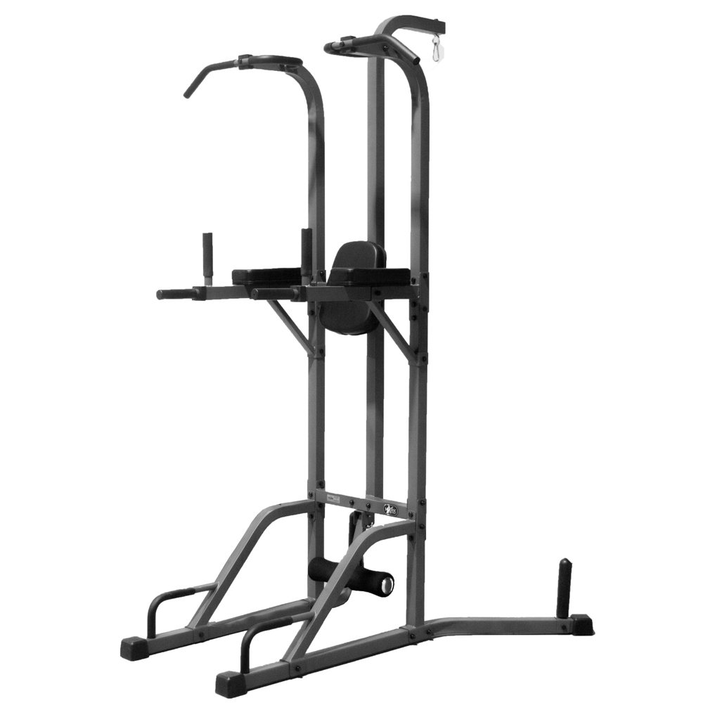 Deluxe Power Tower And Heavy Bag Stand Featuring A Heavy