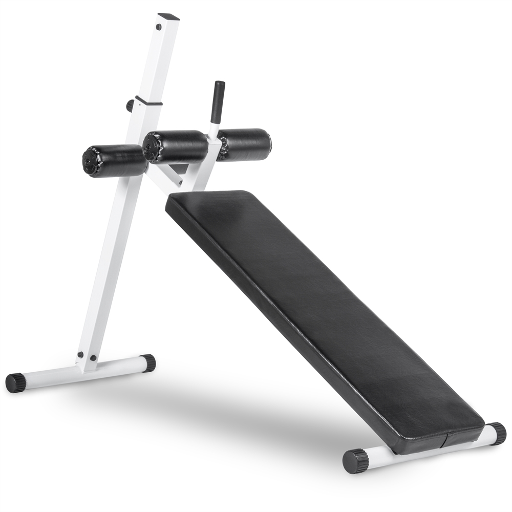 10 Position Adjustable Sit Up Ab Bench 350 Lb Capacity Ergonomically Positioned Vinyl Covered