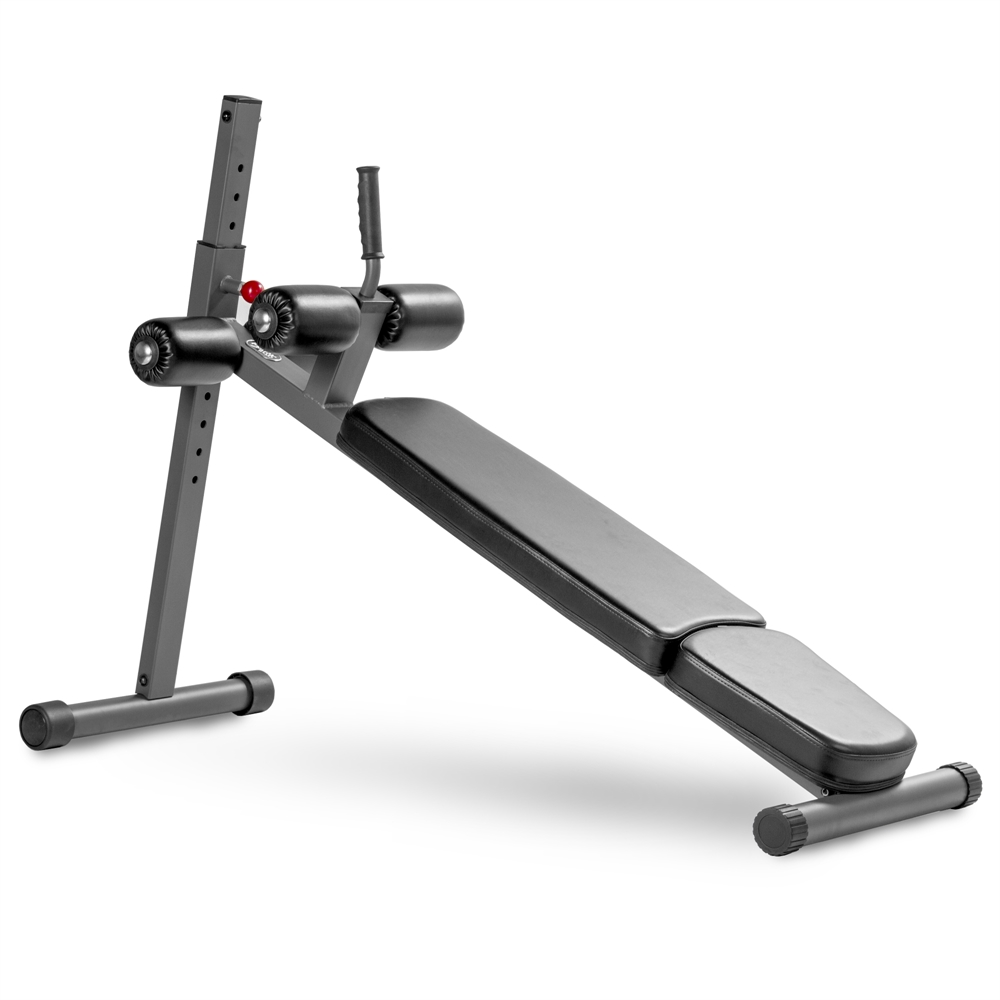 12 Position Adjustable Sit Up Ab Bench With Bullhorn Handle For Easy Mounting And Dismounting 3