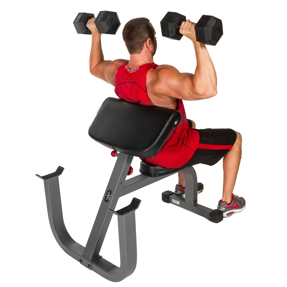 Seated Preacher Curl Weight Bench Xm 7612