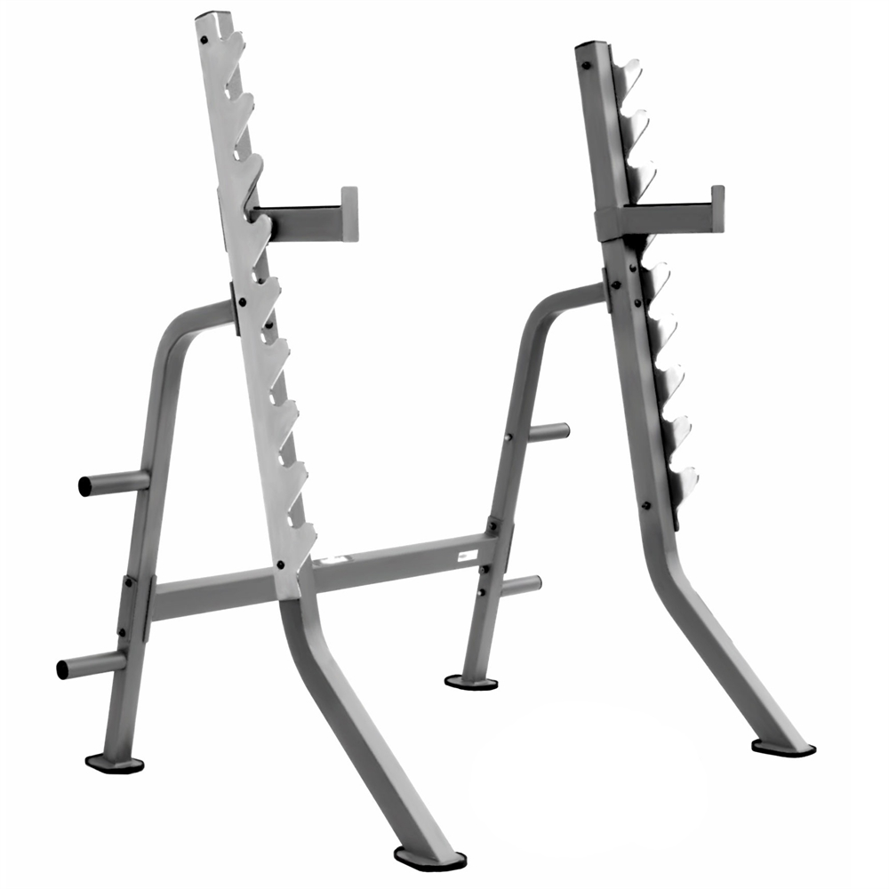 Heavy Duty 11 Guage Multi Press Squat Rack With Adjustable Safety Spotter Hooks And Olympic