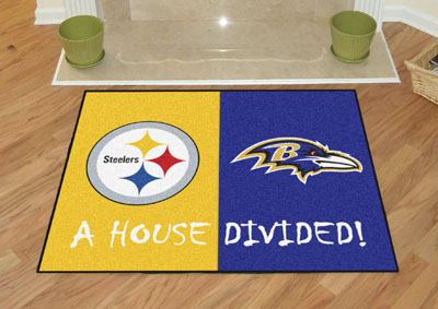 Fanmats Nfl Pittsburgh Steelers Baltimore Ravens House