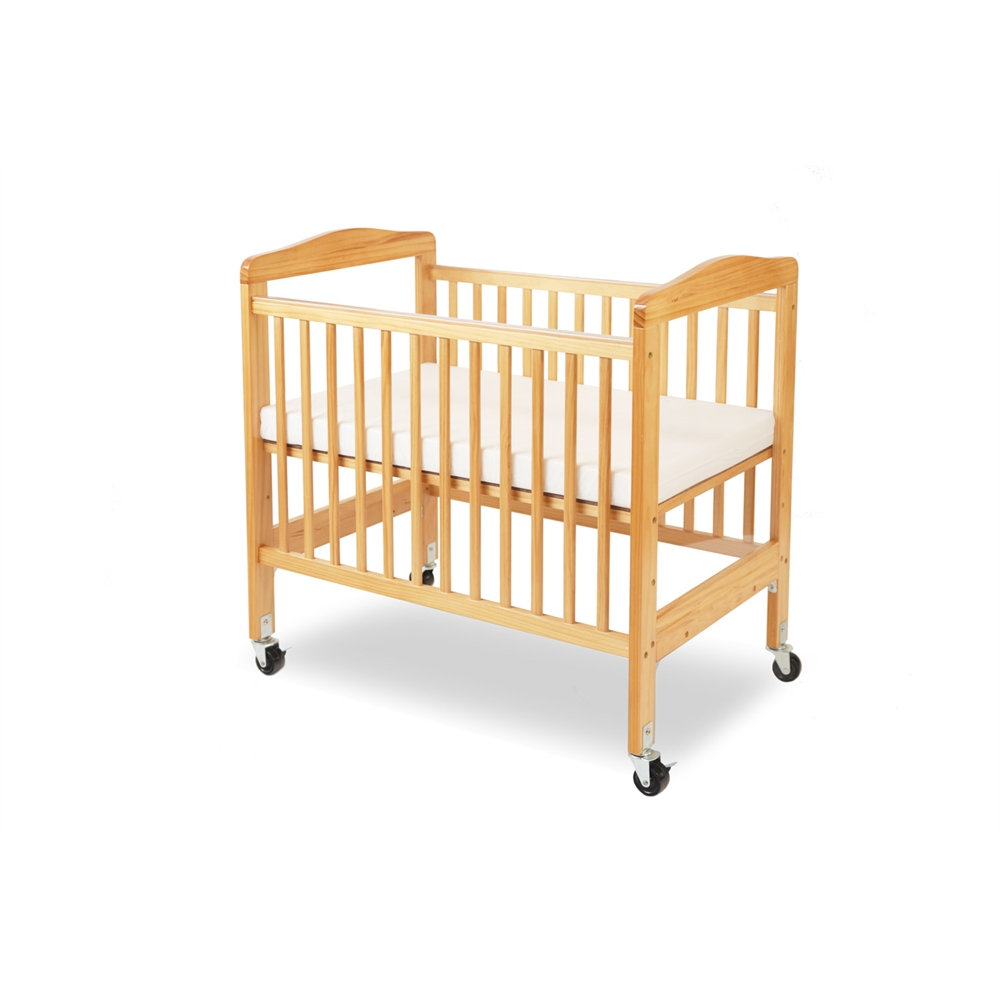 Compact Non-folding Wooden Window Crib, Natural. Picture 3