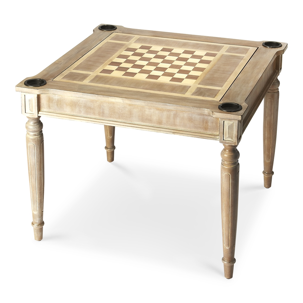 Vincent Driftwood Multi Game Card Table, Driftwood By Butler