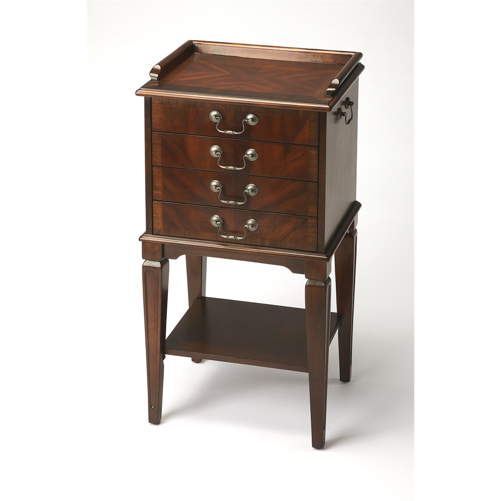 Hardwick Plantation Cherry Silver Chest. Picture 1