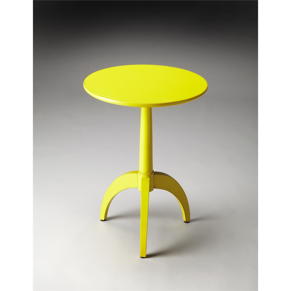 Burbank Yellow Accent Table Yellow