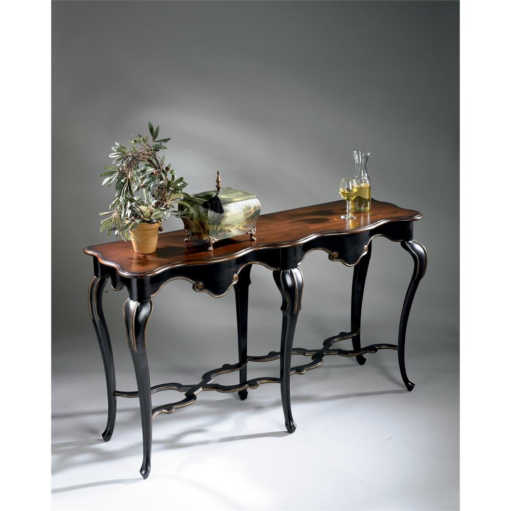 Wentworth Café Noir Console Table, Café Noir