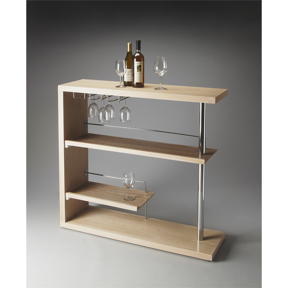 Broadway Modern Bar Cabinet, Gray Dawn. Picture 3