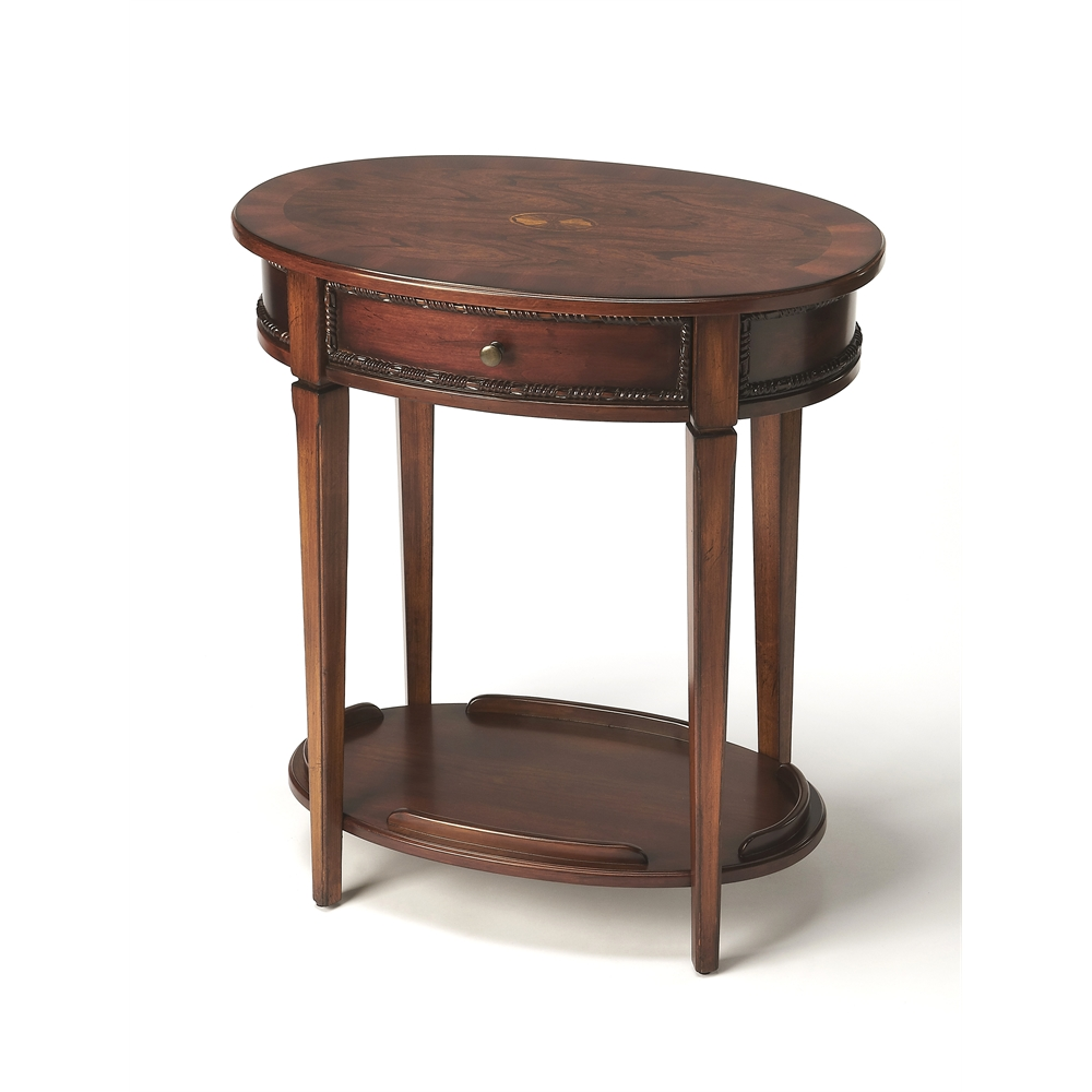 Adelaide antique cherry oval side table