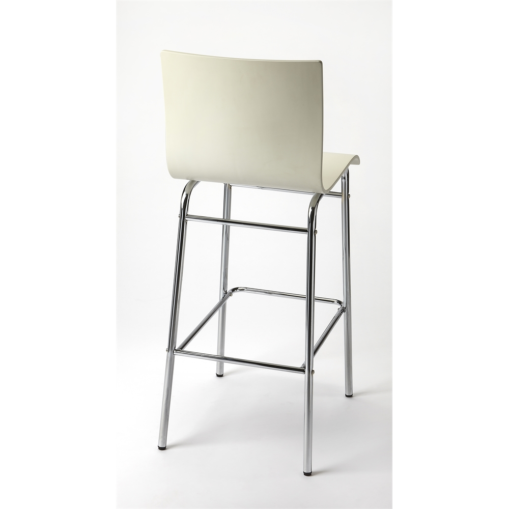 Watney White Bar Stool White