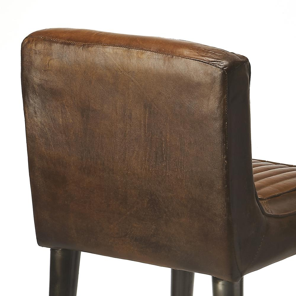 Maxwell Leather Bar Stool. Picture 4